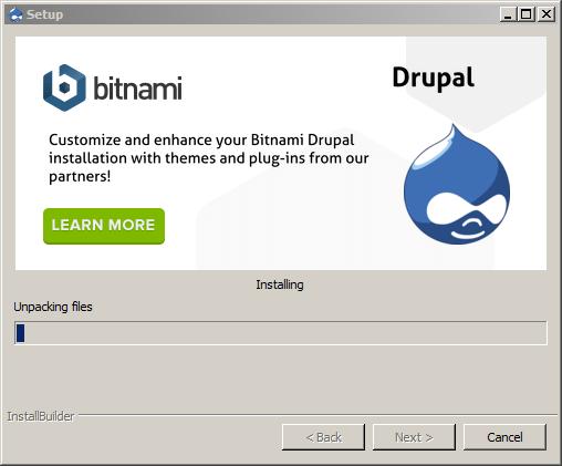 Installing Drupal – Bitnami WAMP Stack